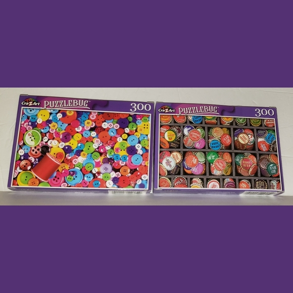 Tray of Colorful Vintage Bottlecaps 300 Pieces Jigsaw Puzzle